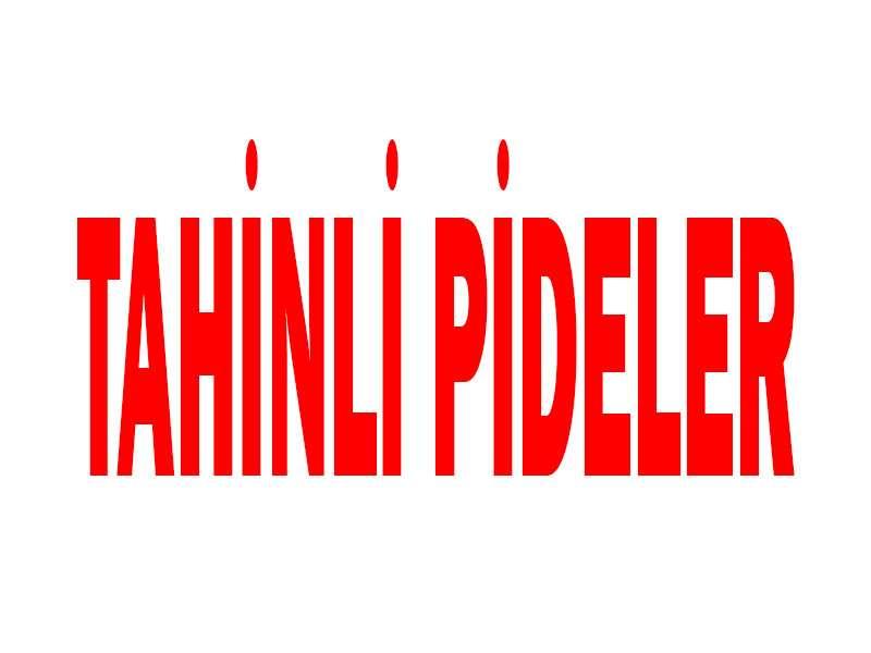 Tahinli Pideler